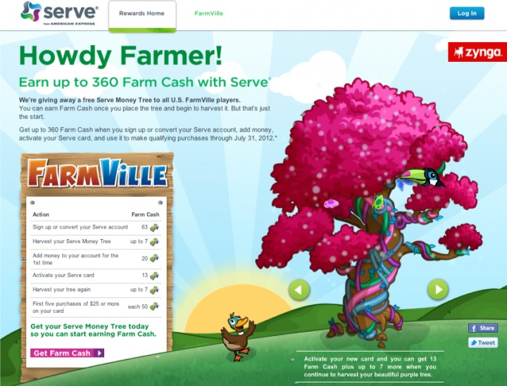 Zynga, American Express Launch Serve Rewards