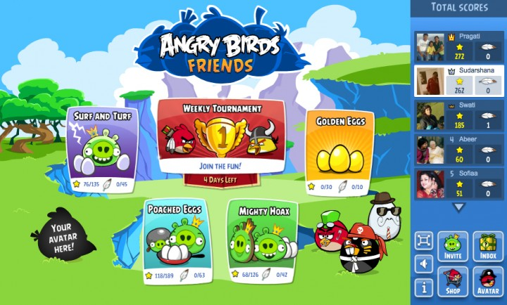 Play Angry Birds Tournaments On Facebook