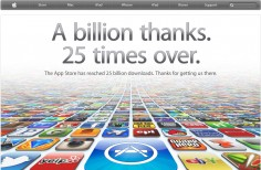 Apple App Store Crosses 25 Billion Downloads