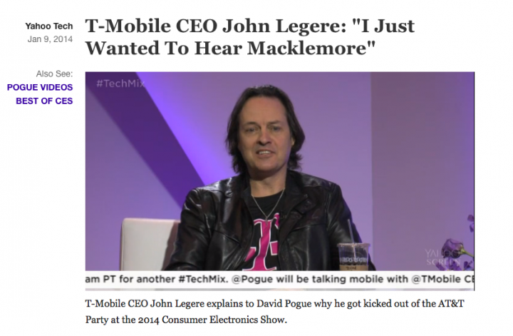 T-Mobile CEO John Legere On Getting Thrown Out Of AT&T's Party