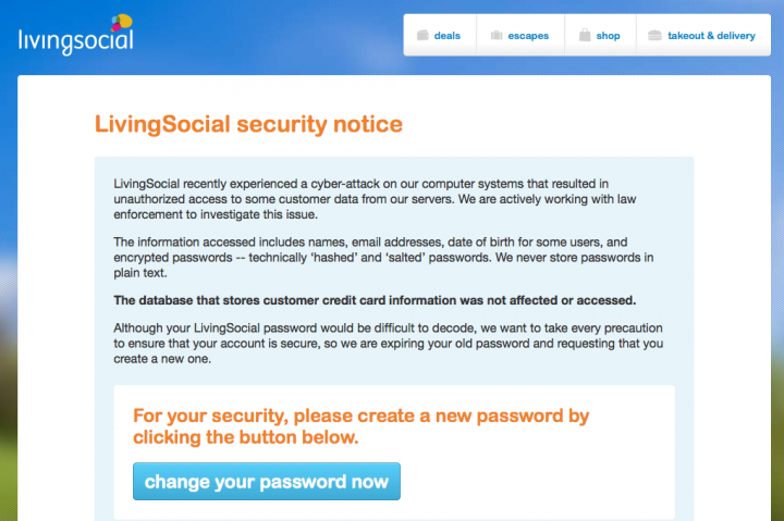 LivingSocial Hack Compromises 50M Users