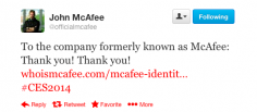 Intel To Drop McAfee Name