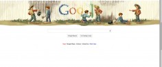 'Happy Birthday,' Mark Twain, Says Google's Panoramic Triptych Fence